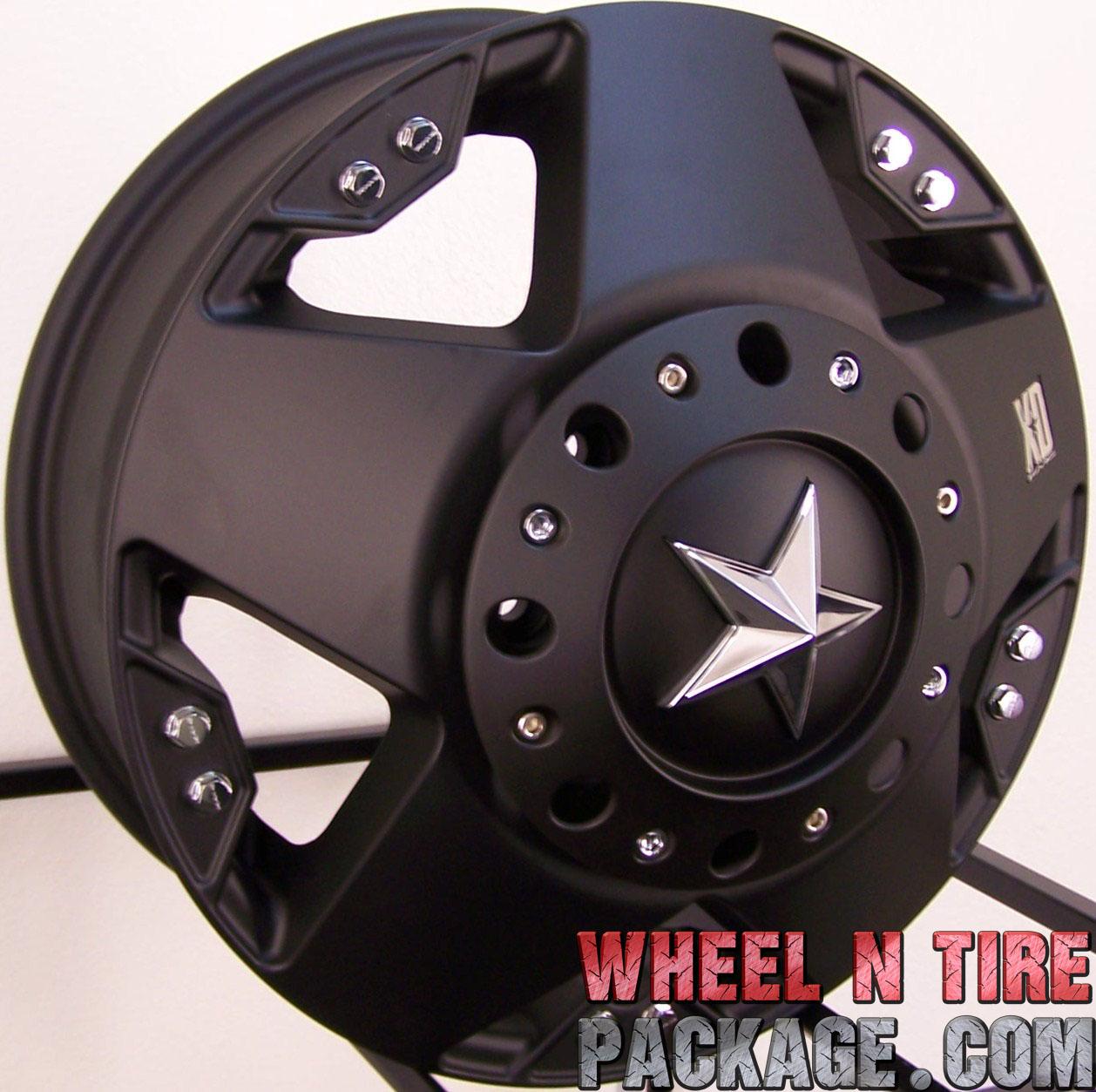 17 Matte Black XD Rockstar Wheels Rim Ford 05 2012 F350 Dually 8x200