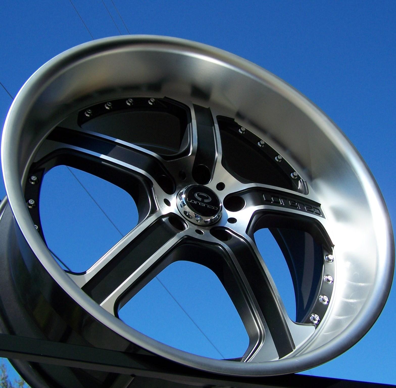 22 Black Lorenzo WL21 Wheels Rims Dodge Magnum Charger Challenger