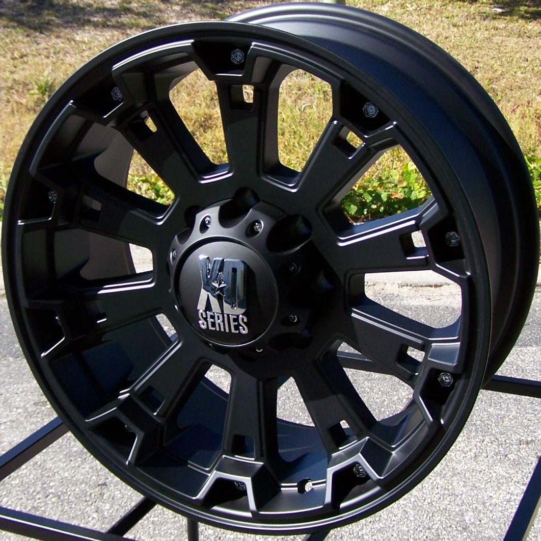17x8 Black XD Misfit Wheels Rims Ford F 150 Expedition Navigator