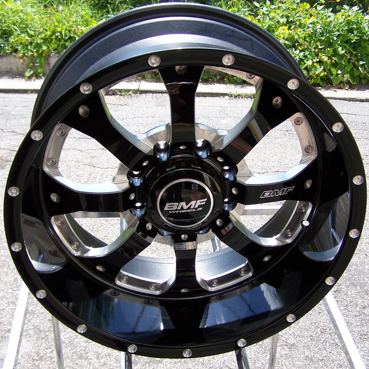 "20x9"" Black BMF Novakane Wheels Rims Chevy Silverado GMC Dodge 2500 3500 F 250"