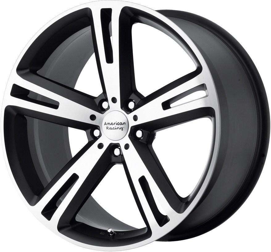 "17"" American Racing Villain Wheels Rim Mustang Civic Caliber Fusion Nitro Accord"