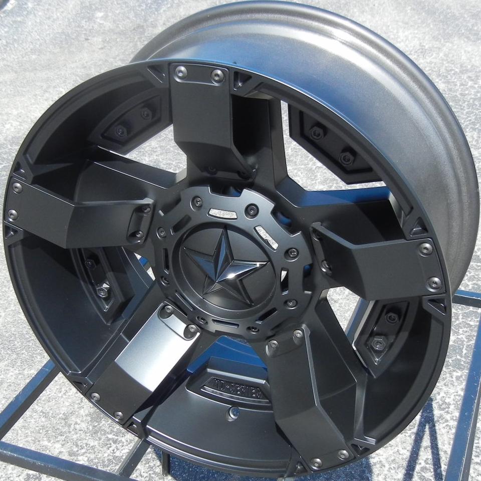 "20"" XD Rockstar 2 II Black Wheels Rims Silverado Tahoe 1500 GMC Sierra Ford F150"