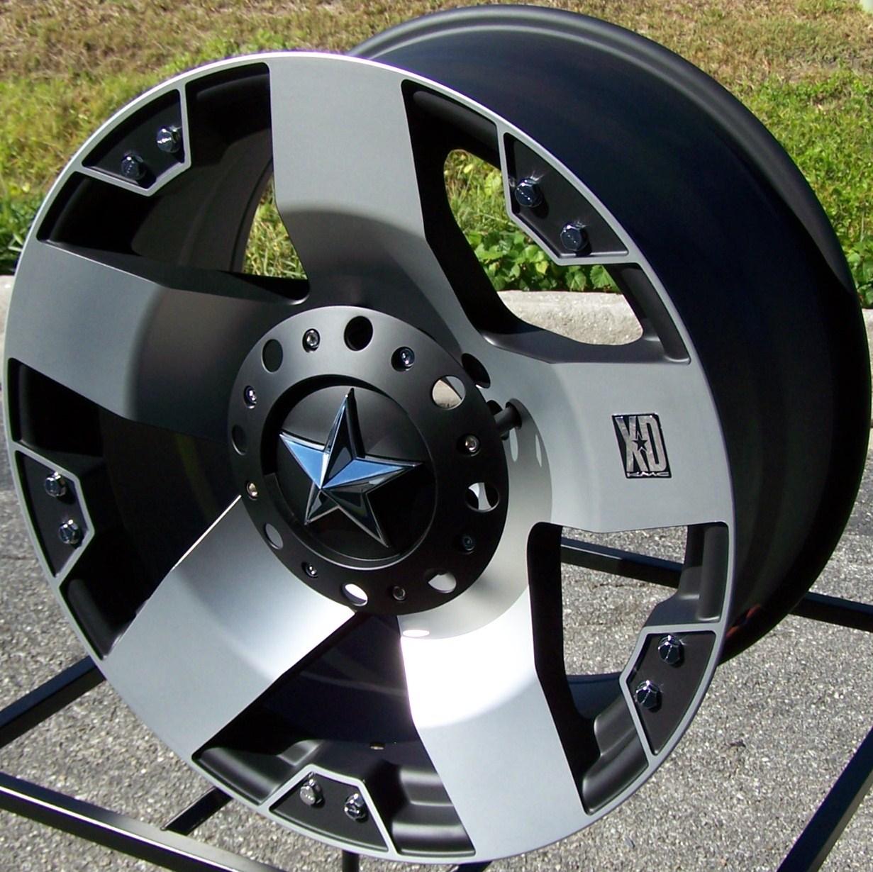 20 Black Machined KMC XD Rockstar Wheels Rims Ford F 250 F 350 King