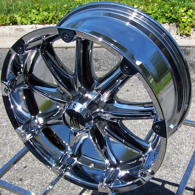 18x9 Chrome XD Badlands Wheels Rims Chevy GMC Sierra Dodge RAM 2500
