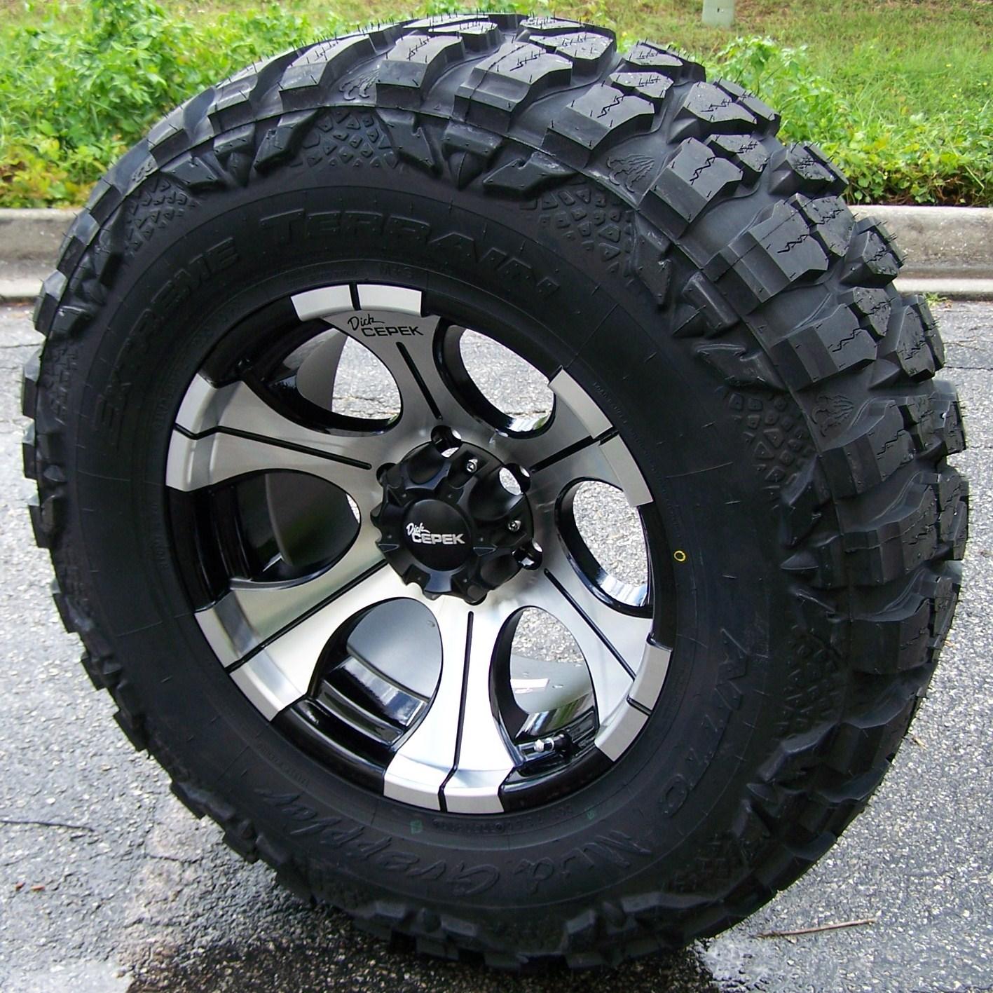 "17"" Dick Cepek DC2 Wheels Rims 33"" Nitto Mud Grappler Chevy Silverado GMC Sierra"