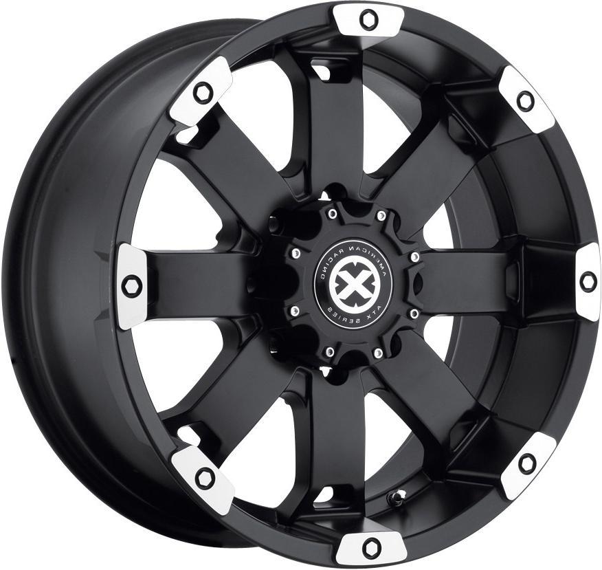 18 Black ATX Wheels Rims Dodge RAM Chevy Silverado GMC Sierra 2500